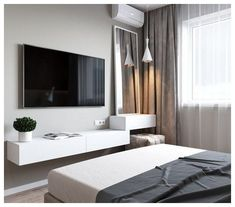 170 best minimalist bedroom design you must try -page 3 Minimalist Bedroom Bedroom Design Minimalist Page Country Bedroom Design, Bedroom Bed Design, Tv In Bedroom, Bedroom Furniture Design, Modern Bedroom Design, Home Room Design, Home Decor Bedroom, Home Interior Design, Bedroom Designs
