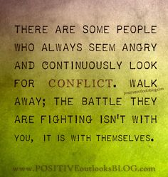 Looking For Conflict - by positiveoutlooksblog.com