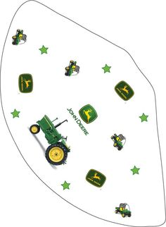 John Deere Free printables.... party hats, invites and colouring pages.