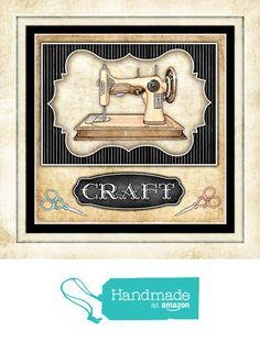 """Quilting Sewing Signed Art Print by Dan Morris 12""""x12"""" titled Thimble Pleasures 2 from Dan Morris Art & Design http://www.amazon.com/dp/B016C4REL0/ref=hnd_sw_r_pi_dp_2SKgxb0HT94PE #handmadeatamazon"""
