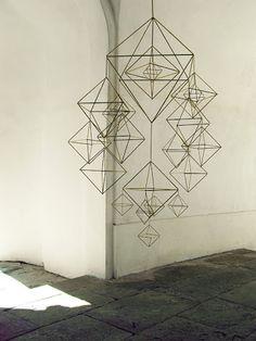 Gorgeous decahedron himmeli mobile