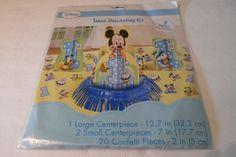 Disney Baby Mickey Mouse 1st Birthday Party Table Centerpiece Decoration Kit #Disney #BirthdayChild