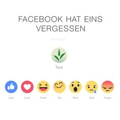 """Facebook Tee-""""Like""""-Button fehlt - Facebook - Tea-""""Like""""-Button is missing :)"""