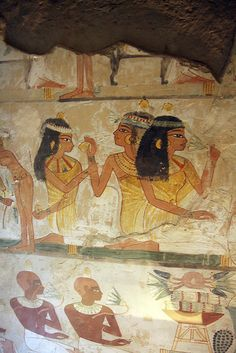 Ancient Egyptian Clothing, Ancient Egyptian Paintings, Ancient Egyptian Artifacts, Ancient Egypt Art, Ancient Aliens, Ancient History, Art History, European History, Ancient Greece