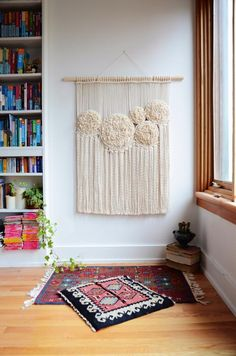 Macrame wall hanging with swirls of roses Macrame wall hanging Macrame Wall Hanging Patterns, Large Macrame Wall Hanging, Macrame Patterns, Hanging Wall Art, Macrame Design, Macrame Art, Macrame Projects, Macrame Purse, Diy Wall Decor