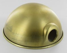 UNFINISHED BRASS PARABOLIC SHADE WITH UNO SOCKET THREAD - 6-1/2 inch DIAMETER AND 3-1/3 inch DEEP