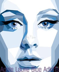 Adele Laurie Blue Adkins in WPAP by sangpendosa.deviantart.com