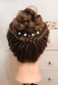 Hair styling for soft curly hair Easy Hairstyles CURLY hair soft styling Hair styling for soft curly Medium Curly, Medium Hair Styles, Curly Hair Styles, Natural Hair Styles, Curly Updos For Medium Hair, Curly Hair Updo, Long Curly Hair, Hair Buns, Easy Hairstyles For Long Hair