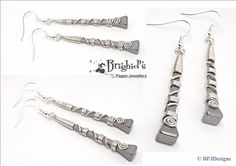 Horse Shoe Nail & Sterling Silver Earrings by BrighidsJewellery