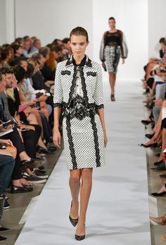 Love this suit @ Oscar De La Renta - Runway - Mercedes-Benz Fashion Week Spring 2014 (www.gofugyourself.com)