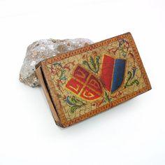 Vintage Wooden Matchbox Wood Match Holder Striker by WhimzyThyme