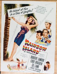 Rainbow Island Movie with Dorothy Lamour Ad from by VintageVirtus
