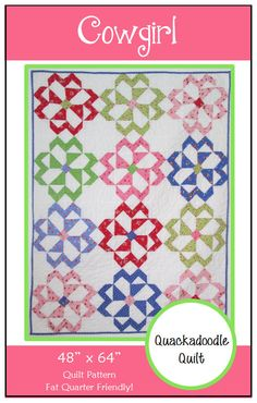 Easy PDF Cowgirl Quilt Pattern by Quackadoodle Quilt-I love this!