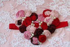 Valentine Heart Headband Valentines Baby by AldonasBoutique, $32.00