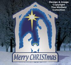 All Christmas - Glowing White Nativity Woodcraft Pattern Nativity Crafts, Christmas Nativity, Christmas Wood, Christmas Projects, Wood Crafts, Christmas Holidays, Christmas Windows, Christmas Stuff, Winfield Collection