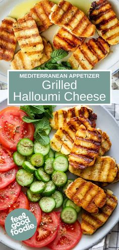 Grilled halloumi is a simple and delicious Mediterranean appetizer that's ready in minutes. Cook on an indoor or outdoor grill and serve with a fresh salad Mediterranean Appetizers, Mediterranean Recipes, Grilled Halloumi, Melted Cheese, Yummy Appetizers, Other Recipes, Starters, Finger Foods, Pantry