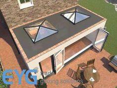 Square Roof Lantern Skypod Roof Light White Internal External X