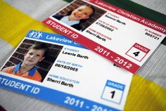Student ID cards.