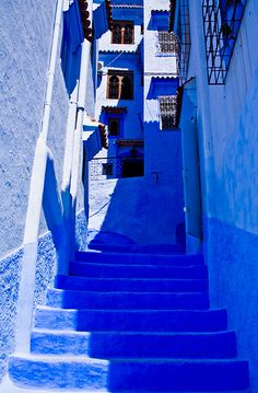 To know more about Chefchaouen, Morocco Blue Streets of Chefchaouen, visit Sumally, a social network that gathers together all the wanted things in the world! Featuring over 4 other Chefchaouen, Morocco items too! Image Bleu, Kind Of Blue, Neon Aesthetic, Blue City, Blue Rooms, Adventure Is Out There, Something Blue, Aesthetic Pictures, Architecture