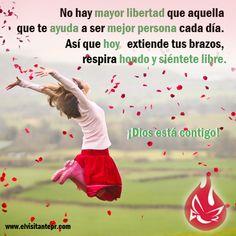 No hay mayor libertad que aquella que te ayuda a ser mejor persona cada día.  #Milagros #Confianza #Jesús #Dios #Fe #Católico #Iglesia #Prójimo #MensajedelDia
