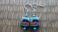 Little blue punch buggy earrings by valkirytails on Etsy, $10.00