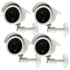 Masione 4 PACK Outdoor SONY CCD Night Vision Bullet Security Camera Weatherproof Wide Angle Surveillance CCTV by Atc. $107.99. The camera is an affordable economic day night video security camera. Built-in 24 infrared LEDs capture color pictures by day and good images at night up to 65ft away. Connect easily with CCTV DVR, Security System or TV for monitoring. It offers reliable security for your property and possessions. The Day Night Security Camera can be u...