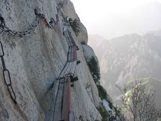 The World's Most Dangerous Trail on Mr. Huashan Leads to a Teahouse