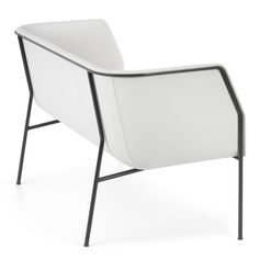 Cajal sofas and armchair by Gunilla Allard balance the seat on a thin metal frame
