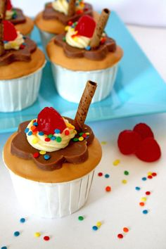 Chocolate Caramel Sundae Cupcakes ~ eat sweet. by carla sue