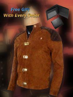 Warriors Viper Pilot Battlestar Galactica Brown Suede Jacket - Free Gift Offer !