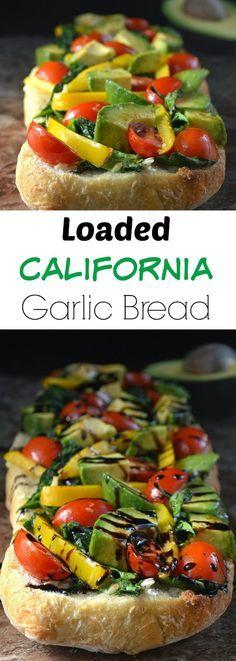 Souffle Bombay: California Garlic Bread With Sauteed Spinach & Avocados