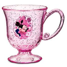 Disney minnie mouse Cup by Disney. $15.00. Sparkly glitter inlay Wash thoroughly before first useAcrylic4'' H x 3 1/4'' Diameter Holds 8 oz.ImportedPart of the MINNIE MOUSE Meal Time Magic Collection, sold separately. Sparkly glitter inlay Wash thoroughly before first useAcrylic4'' H x 3 1/4'' Diameter Holds 8 oz.ImportedPart of the Tangled Rapunzel Meal Time Magic Collection, sold separately
