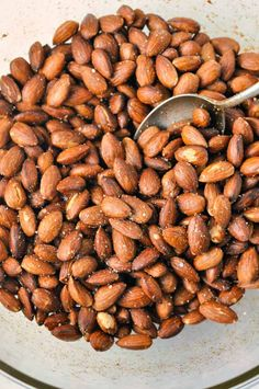 Spanish Spiced Almonds. Easy, healthy, authentic Spanish tapa.