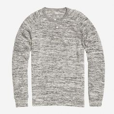 Long Sleeve Speckle Jersey Henley Image
