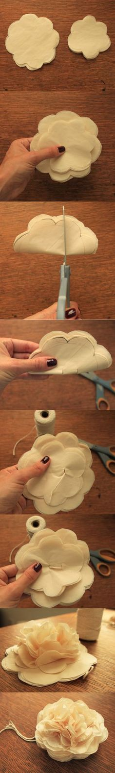 How to make a tissue flower