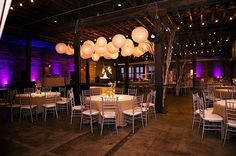 Gorgeous Lighting At The South Warehouse In Jackson Ms Purple Wedding Colors