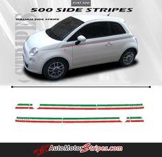 "BONUS INSTALL KIT For FIAT 500 6/"" DUAL VINYL RALLY STRIPES RACING STRIPE"