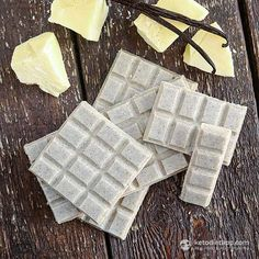 Healthy Sugar-Free White Chocolate from the Fat Bombs Book (low-carb, keto, paleo)