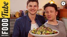 Superfood salad with quinoa, broccoli, avocado, feta cheese, pomogranates, sweet potatoes, nuts, etc.