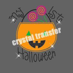 Happy Halloween Hotfix Nailhead Motif  Vinyl Heat Transfers Wholesale