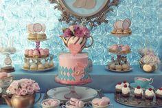 Alice no país das maravilhas mesa de sobremesa festa