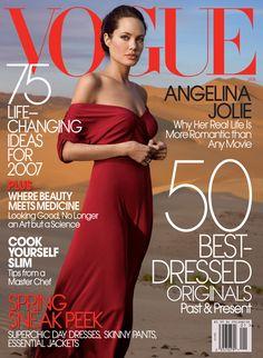 Angelina Jolie by Annie Leibovitz Vogue US January 2007