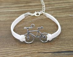 silvery bicycle bracelet South Korea's cashmere by handworld, $1.59