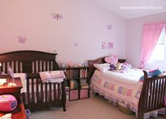 Newborn and Toddler Room | above riley s big girl bed i made sure to