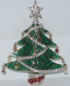 Nordstrom Crystal Christmas Tree Pin