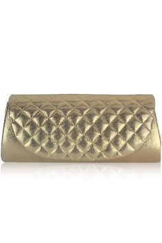 Checkered Party Purse Gold
