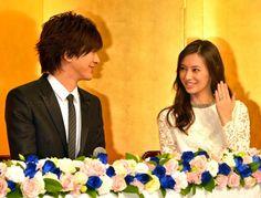 Daigo & Keiko Kitagawa on wedding press-con Keiko Kitagawa, Actors & Actresses, Dancer, Marriage, Beautiful Women, Hair Styles, Wedding Ideas, Asian, Japanese