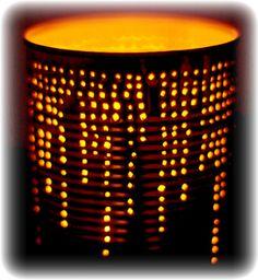 Tin can luminary craft & tutorial