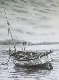 Znalezione obrazy dla zapytania drawing pencil boat