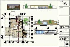 Plan d'un projet de restaurant en dwg